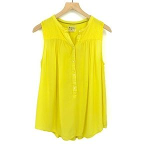Anthropologie Holding Horses yellow Top XS